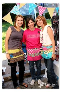 Sugar Bee Crafts.....maybe bibbed strawberry aprons to store your stuff in during shows??