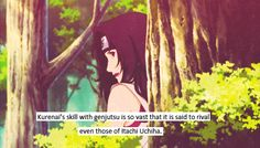 Whoa I missed that line in the show...I didn't know that Kurenai was that badass!