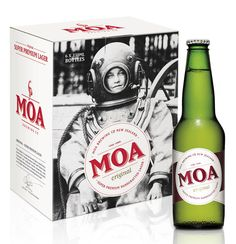 Moa Beer packaging | One Design, via Oh Beautiful Beer