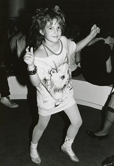 Drew Barrymore partying at Studio 54 at the tender age of eight, 1983