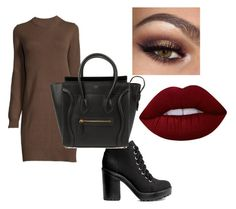 """Autmn"" by diana-diiana on Polyvore featuring moda, CÉLINE, Lime Crime, chic, autumn e celine"
