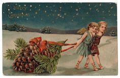 Beautiful UNUSED Antique Christmas Angel by VintagenutsInc on Etsy, $4.50