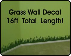 Grass Wall Decal wall border - removable vinyl wall stickers (6in x 16 ft long) by WallCrafters on Etsy https://www.etsy.com/dk-en/listing/207153473/grass-wall-decal-wall-border-removable