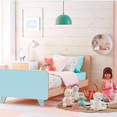 Loveee this bed from @domayne_australia! #love#biggirlbed#happy#kidsinteriors#childrensinteriordesign#milkainteriors#girlsroom#art#cute#play#homewares#kidsdecor