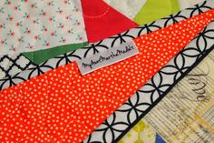 """Cute label  52 Quilts in 52 Weeks: TGIFF: Spring """"A Quilt Block a Day"""""""