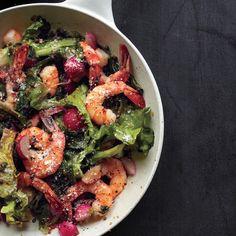 Warm Shrimp and Escarole Salad