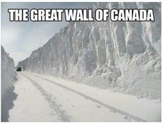 The Great Wall of Canada! Canadian Memes, I Am Canadian, Canadian Humour, Canada Funny, Canada Eh, Funny Quotes, Funny Memes, Hilarious, Meanwhile In Canada
