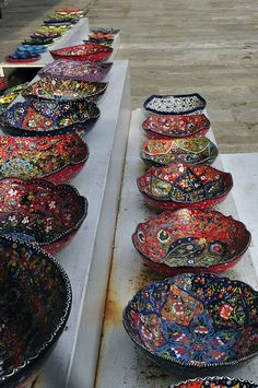 turkish pottery, great color and design!
