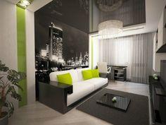 Wohnzimmer Modern Tapezieren Wande Ideen Fototapete Schwarz Weiss Stadtlichter