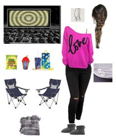 """""""Friday Night Drive-in Fun Plus Size"""" by jacobjarettsmom ❤ liked on Polyvore featuring Old Navy, H&M and Picnic Time"""