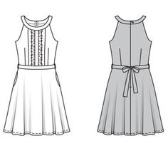 Theresa Dress #6066 - Cute and summery! I'm thinking chambray would be pretty.