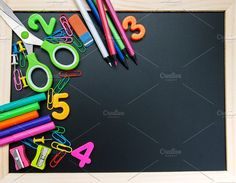 School office supplies by Almaje on @creativemarket