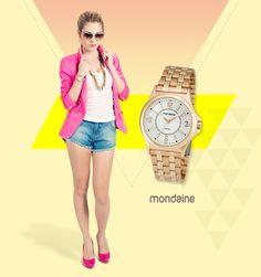 Relógio perfeito para as mulheres com estilo clássico. Ref: 83133LPMTRS2