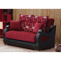 Empire Furniture USA Pittsburgh Convertible Storage Loveseat - LS-PITTSBURGH