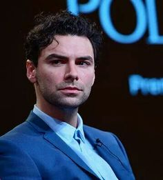 Aidan Turner at a panel about Poldark in LA