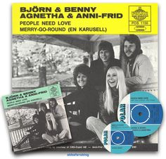 "On the 1st July 1972 Abba's (or Bjorn & Benny, Agnetha & Anni-Frid as they were known at that point) single ""People Need Love"" entered the Swedish charts #Abba #Agnetha #Frida #Vinyl http://abbafansblog.blogspot.co.uk/2017/07/1st-july-1972.html"