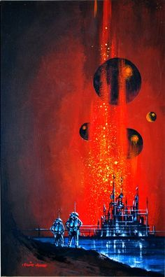Eddie Jones. I would have sworn that this is a Kelly Freas painting but that is not his signature.