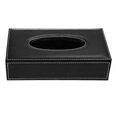 Pu Leather Facial Tissue Paper Box Dispenser Case Holder for Home Toilet Bathroom Office Car Automotive #Affiliate