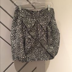 Flattering mini Fun black and white bubble skirt from Anthropologie! Only worn a couple of times! Eva Franco Skirts Mini