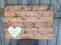 Rustic Wood Rustic Guest Book Wood Guest by SimplymadesignsbyB