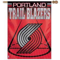 Portland Trail Blazers Vertical Outdoor House Flag
