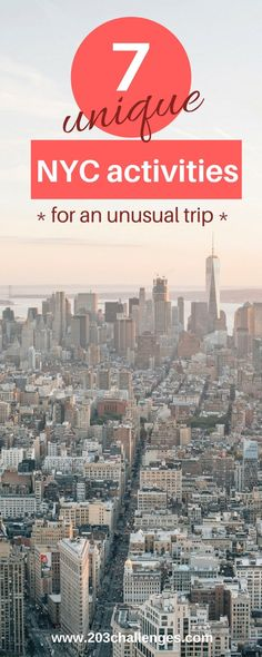 unique things to do in New York City NYC