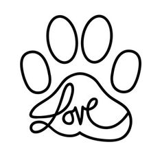 Silhouette Design Store - New Designs Doodle Tattoo, Doodle Art, Dog Tattoos, Tatoos, Tier Fotos, Dog Paws, Silhouette Design, String Art, Easy Drawings