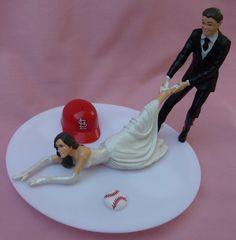 Wedding+Cake+Topper+St+Louis+Cardinals+Saint+Cards+G+by+WedSet,+$59.99
