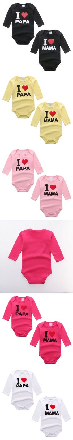 Newborn Baby Clothing Long Sleeve Cotton i love papa mama Next Baby Rompers Girls Boys Clothes roupas de bebe Infantil Costumes
