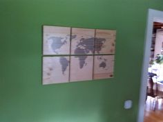 Wall World Map by VugecWoodworks on Etsy, Wood World Map, Gallery Wall, Unique Jewelry, Creative, Handmade Gifts, Frame, Etsy, Vintage, Home Decor