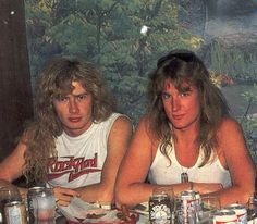Dave Mustaine y David Ellefson