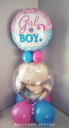 Birth Announcement Ideas with Balloons Gender Reveal Party Games, Gender Reveal Balloons, Gender Reveal Party Decorations, Gender Party, Balloon Decorations Party, Reveal Parties, Baby Shower Decorations, Pregnancy Gender Reveal, Baby Shower Gender Reveal