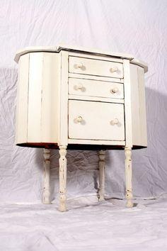 Martha Washington Sewing Cabinet Shabby Chic White