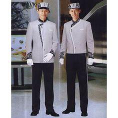 42 Ideas Hotel Door Man Uniform For 2019 Uniform Shirts, Men In Uniform, Uniform Ideas, Double Closet Doors, Patio Door Curtains, Wooden Garage Doors, Salwar Pattern, Hotel Uniform, Restaurant Uniforms