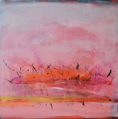 PINK SUNSET  Original Abstract Acryllic painting on by LivsGlad, $600.00