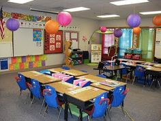 colorful classroom from Clutter-free Classroom