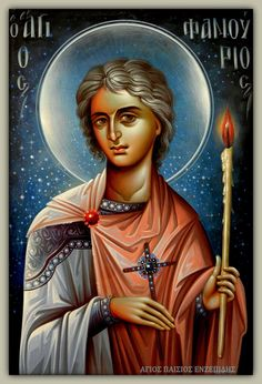 The life of St. Panourius http://www.omhksea.org/2012/08/saint-phanourios-the-great-martyr-and-newly-revealed-of-rhodes/