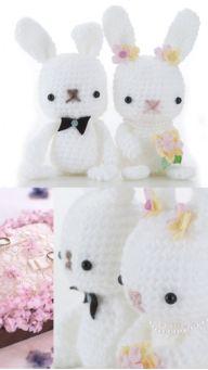 """Crochet Amigurumi Free Pattern Wedding Bunny"" #Amigurumi  #crochet"