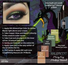 Disney Villain Maleficent inspired Mary Kay Look! http://www.marykay.com/bobbiesue