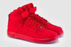 If you're looking for something that is Red and bold, then check into this University Red rendition of the Nike Lunar Force 1 High.
