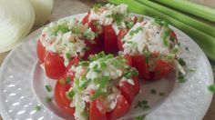 "Crab Stuffed Tomatoes, 1st of 5 course ""do-ahead"" ""Romantic Valentine's Dinner At Home"""