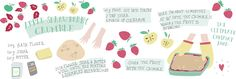 The ultimate comfort food: Strawberry Apple Crumble by Studio Brun - They Draw & Cook