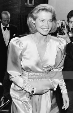 Lady Helen Windsor attending her own 21st birthday party in Knightsbridge, London, May 30th 1985.