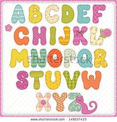 Colorful children alphabet by Nikiparonak, via ShutterStock