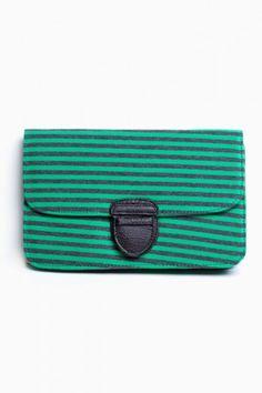 Milan Stripe Clutch