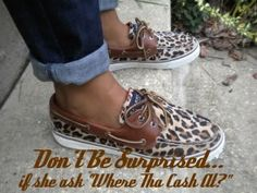 Sperry shoes + leopard print. I think my heart skipped a beat. I neeeeeed these!!!!!