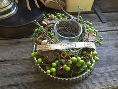 Natur pur - Wilder Tischkranz von FRIJDA im Garten - Aus einer Idee wurde Leidenschaft auf DaWanda.com