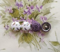 Button Earrings / 2 Pairs / Wholesale Jewelry / by ManhattanHippy