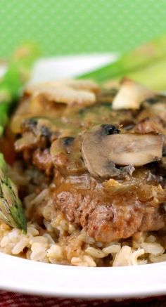Fork Tender Cube Steaks in Mushroom Gravy _ These cube steaks in gravy are fork tender, savory, and delicious. It's a comforting, hearty meal! #beef #dinner