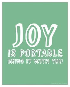 Be a leader, bring the joy!